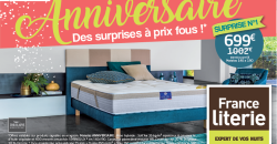 L'anniversaire France Literie